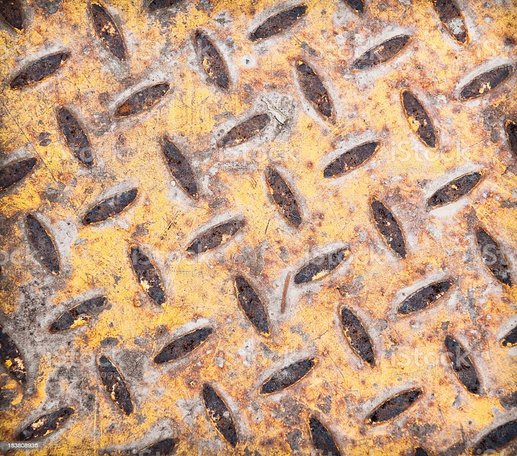 Worn Metal Surface Close-up royalty-free stock photo