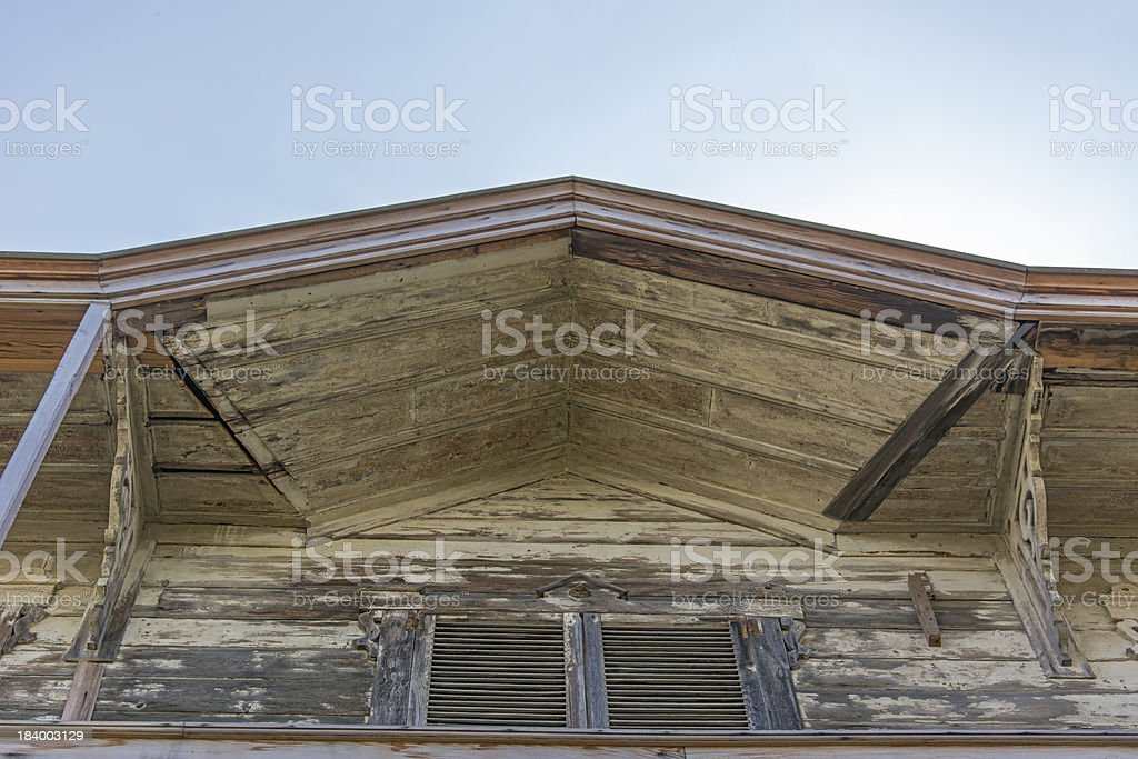 Worn old roof royalty-free stock photo