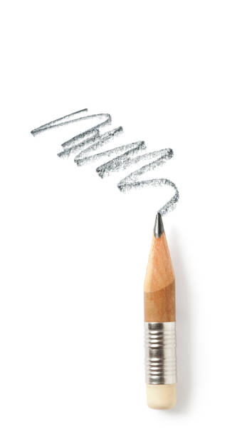 worn out pencil and trace - pencil drawing stock pictures, royalty-free photos & images