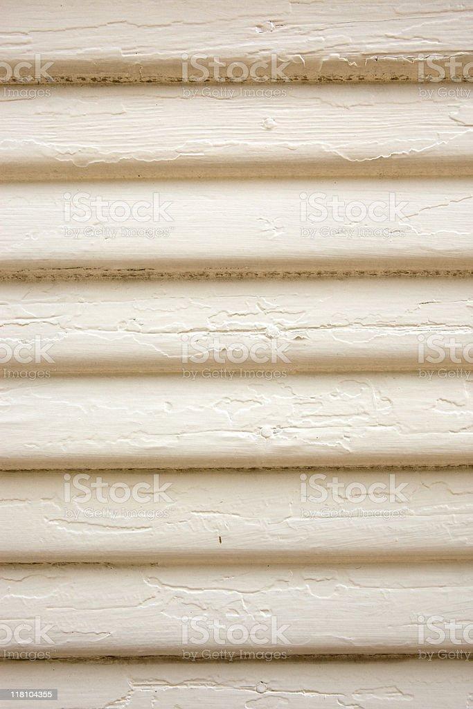 Worn Painted Wood Siding Wall royalty-free stock photo