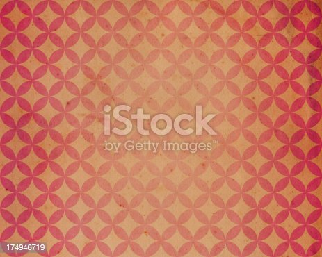 181053292istockphoto worn paper with circle and star pattern 174946719