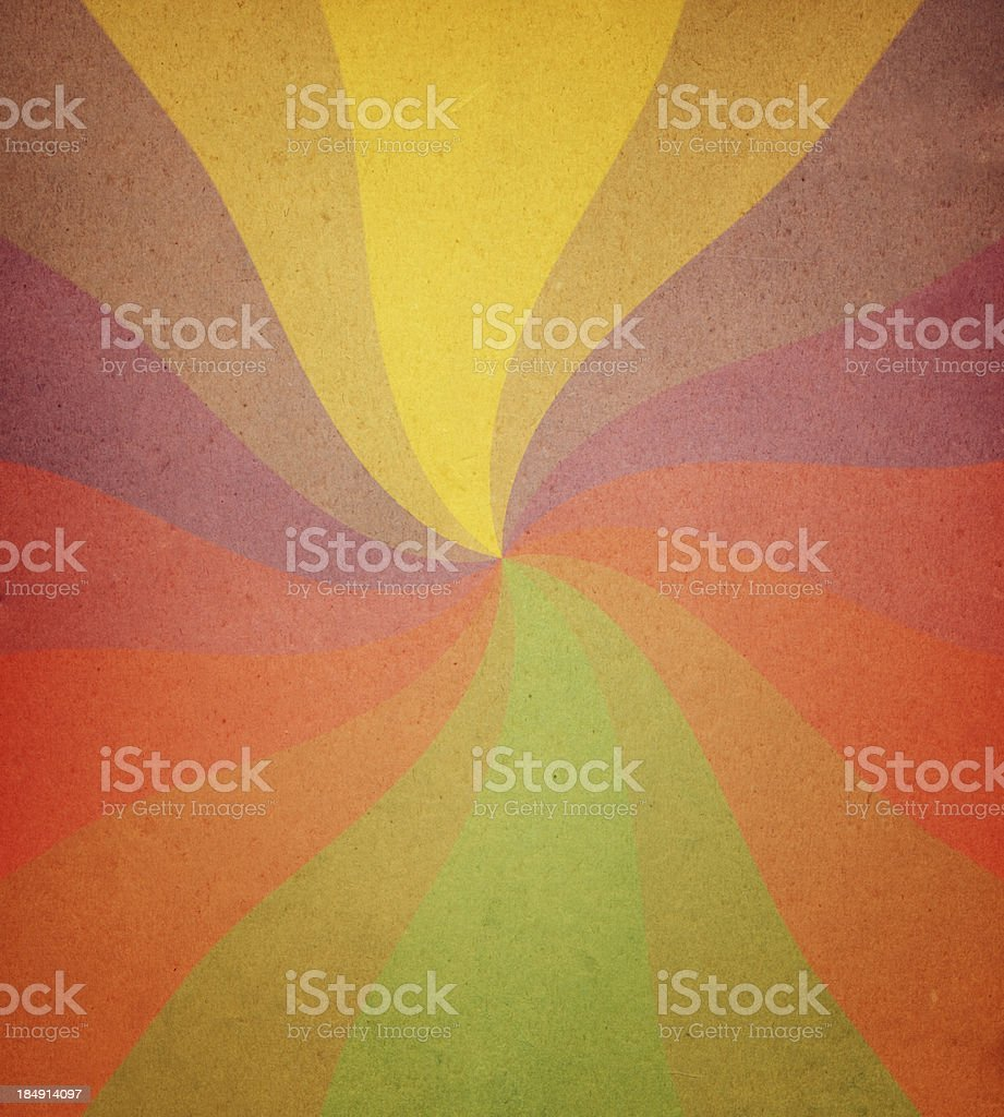 worn paper with spiral ray pattern stock photo