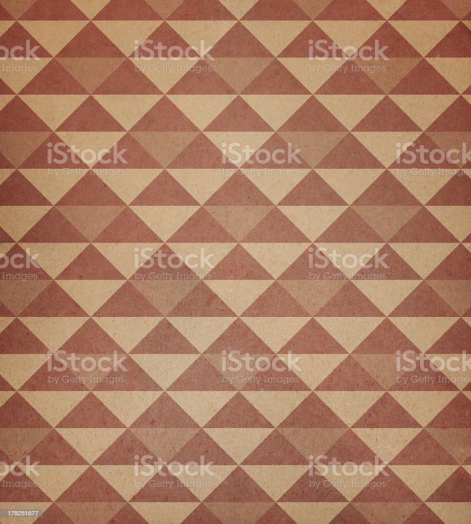 worn paper with triangle pattern stock photo