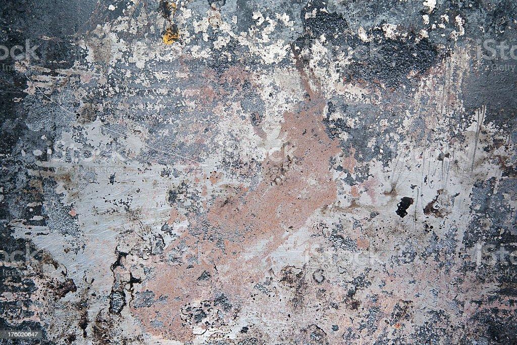 Worn Rusty Blue Metal Texture stock photo