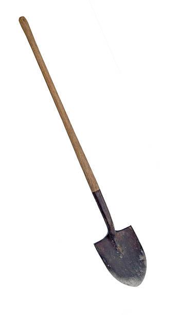 worn shovel ... clipping path - 鏟 個照片及圖片檔