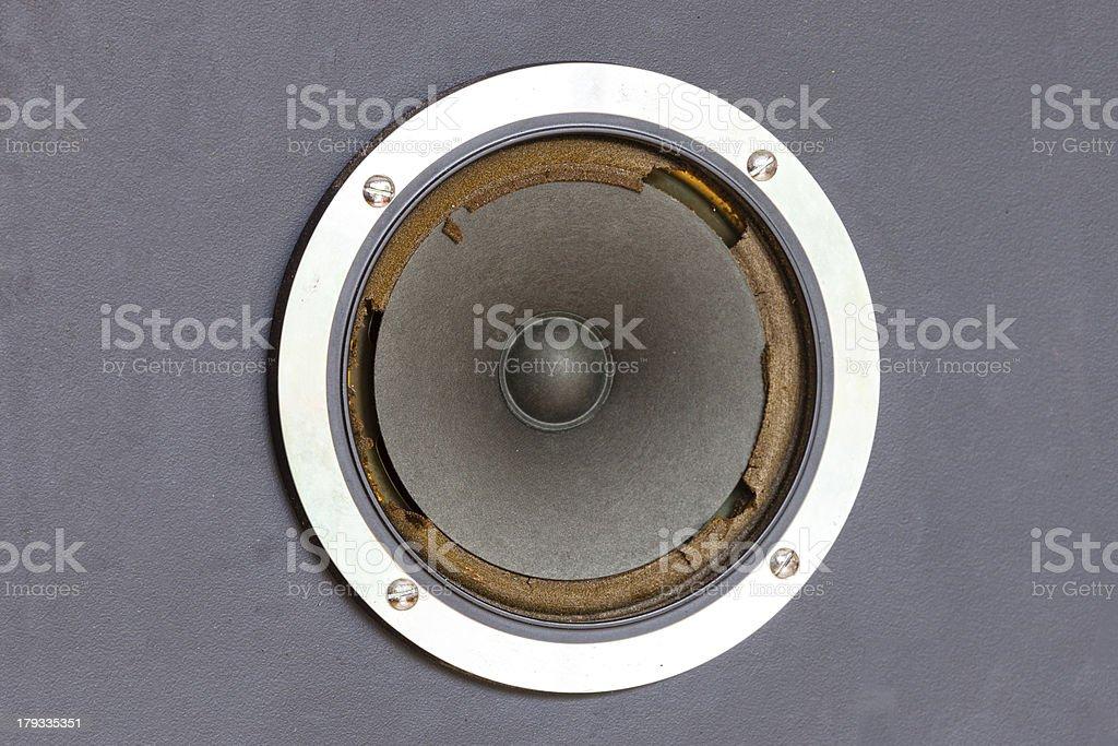 Worn speaker royalty-free stock photo