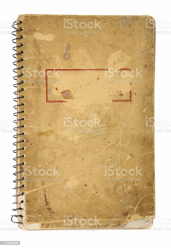Worn Spiral Notebook royalty-free stock photo
