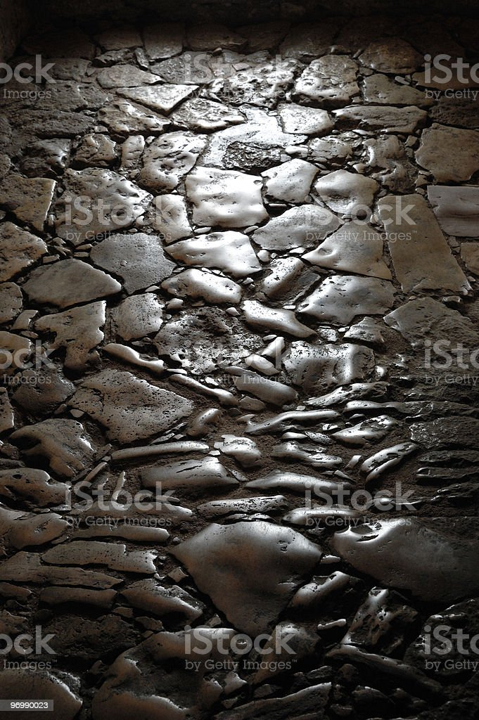 Worn stones of a path royalty-free stock photo