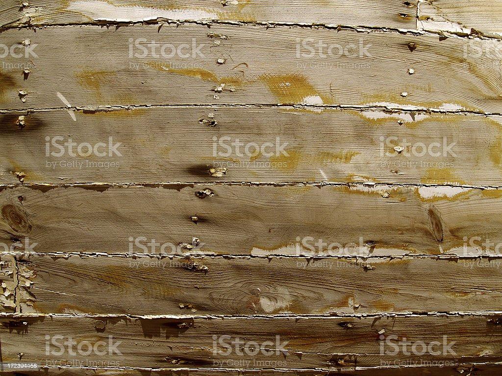 worn vessel planks royalty-free stock photo