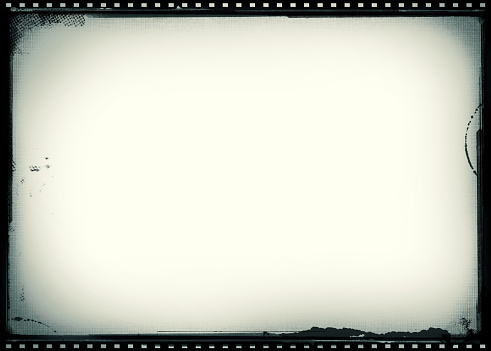 Worn vintage film frame background