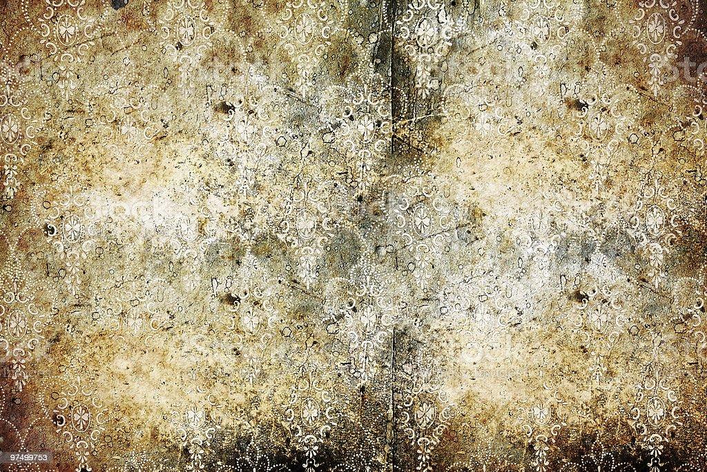 worn wallpaper royalty-free stock photo