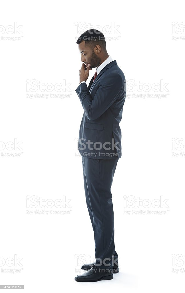 Worried about that deadline stock photo