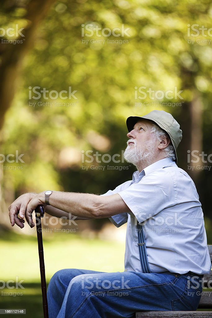 Worried about the future royalty-free stock photo