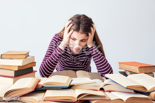 istock Worried and bored student 862314614