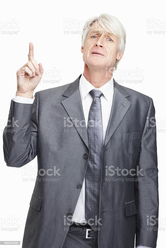 Worried business man royalty-free stock photo