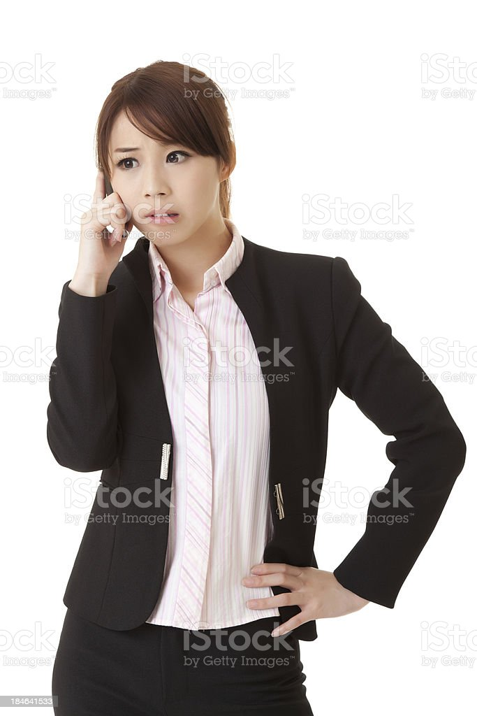 Worried business woman royalty-free stock photo