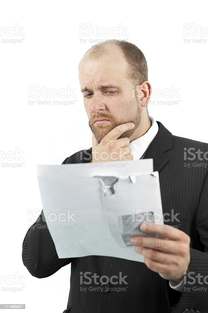 Worried businessman royalty-free stock photo