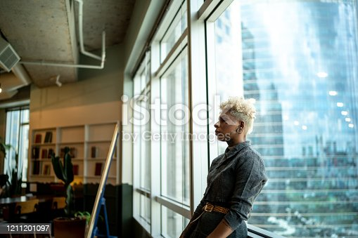 Worried businesswoman at office