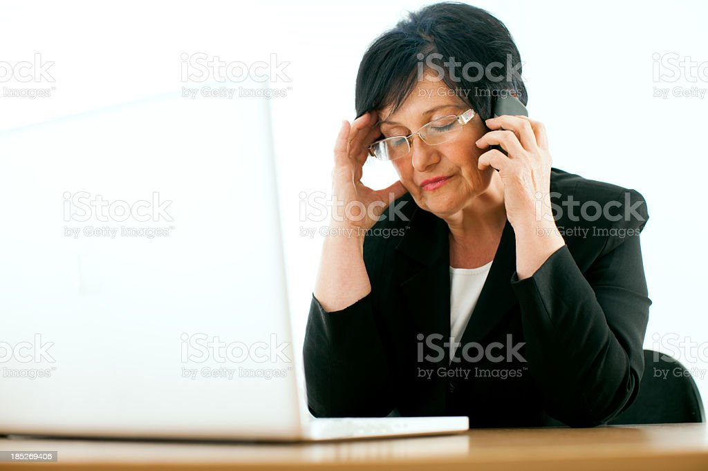 Worried businesswoman royalty-free stock photo