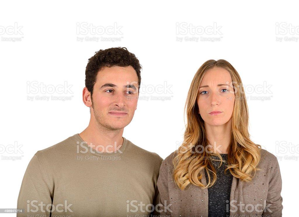 Worried Couple stock photo