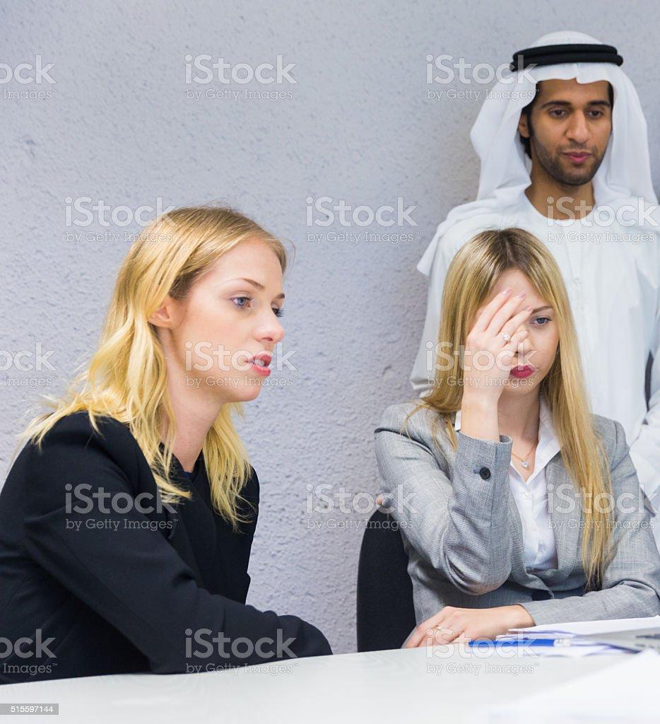 Worried Employees stock photo