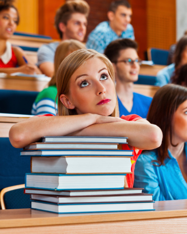 Worried Female Student Stock Photo - Download Image Now