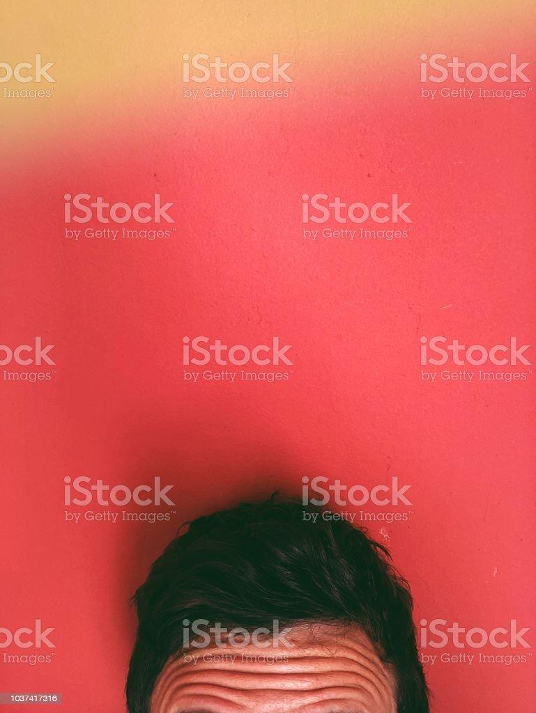 Worried forehead stock photo