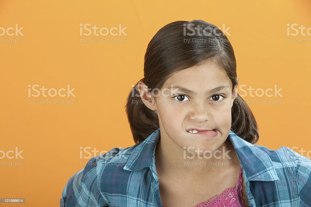 Worried Little Girl royalty-free stock photo