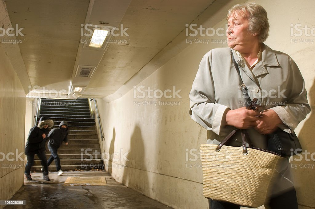 worried pensioner royalty-free stock photo