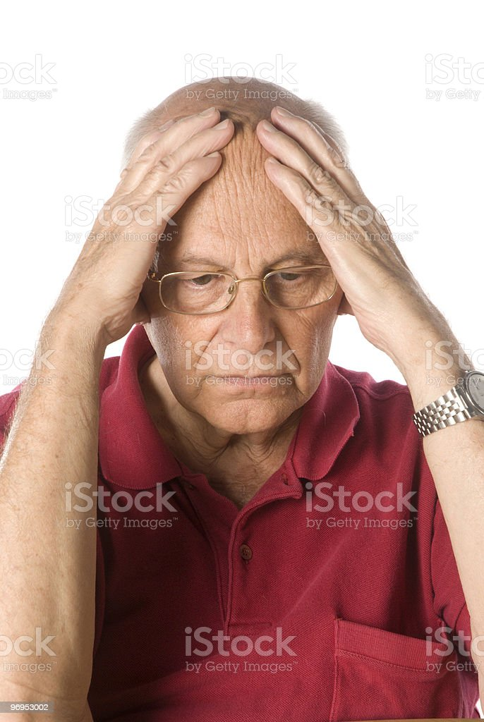 Worried senior man royalty-free stock photo