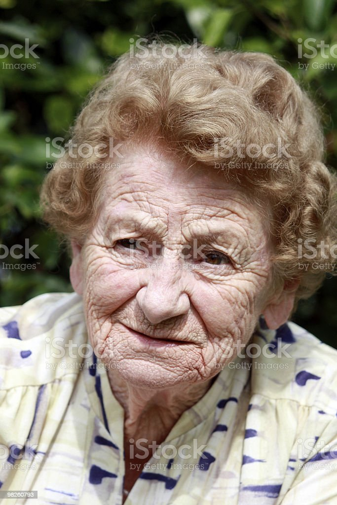 Worried Senior royalty-free stock photo