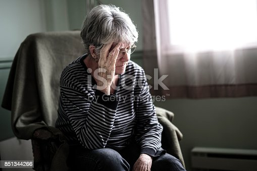 istock worried senior woman at home felling very bad 851344266