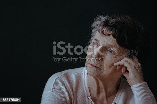 istock Worried senior woman 837175094