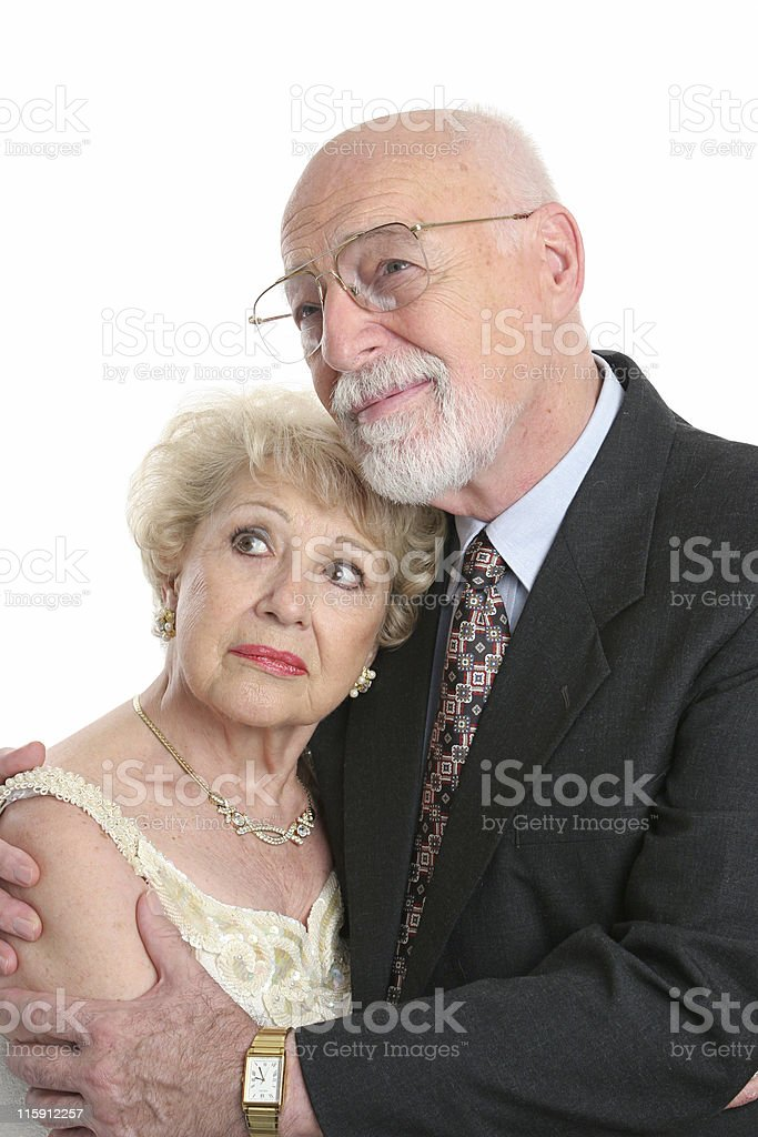 Worried Seniors Face Future royalty-free stock photo