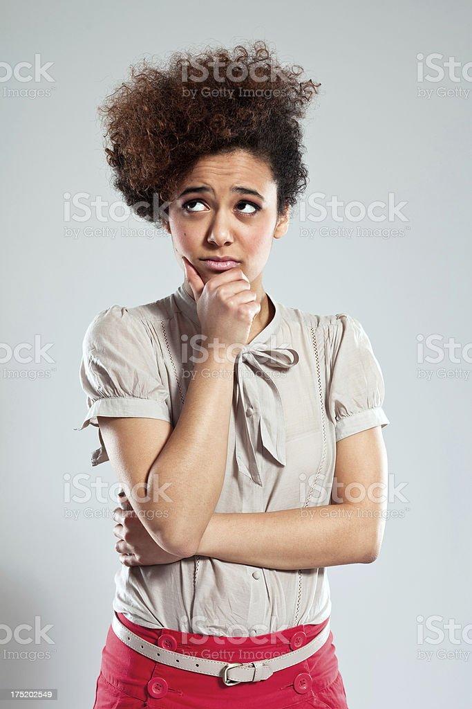 Worried Teen Girl stock photo