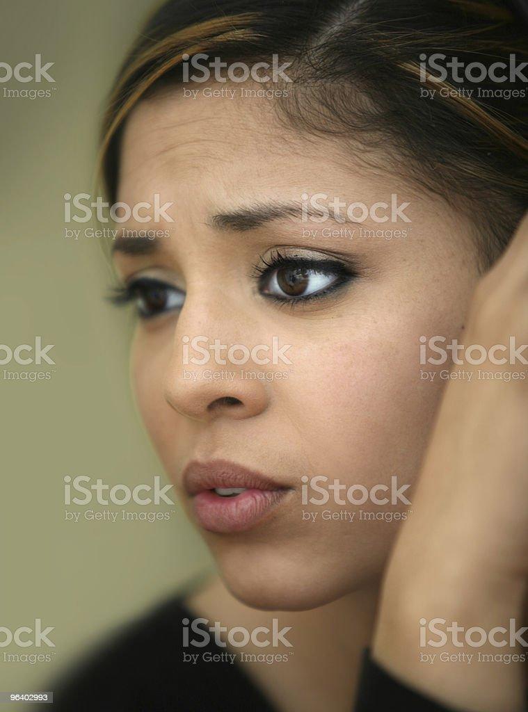 Worried teen girl - Royalty-free Adult Stock Photo