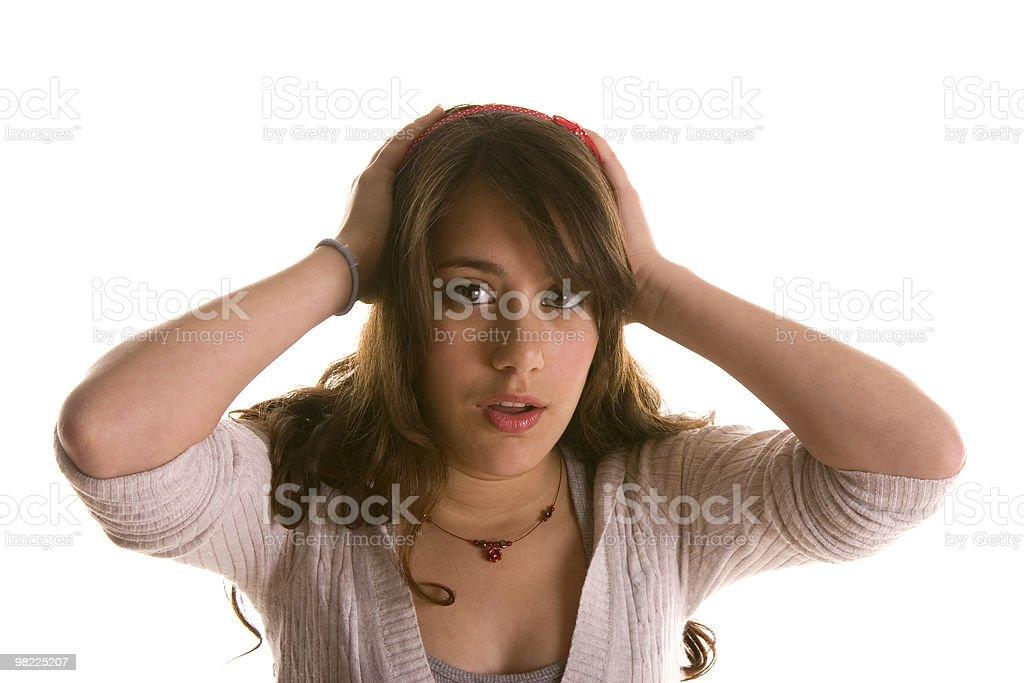Worried teenager royalty-free stock photo