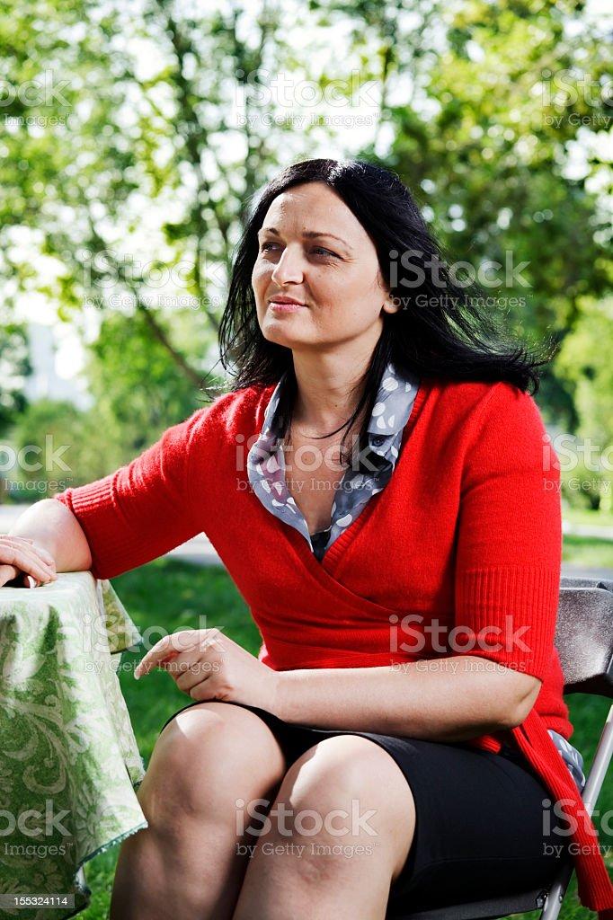 Worried woman stock photo