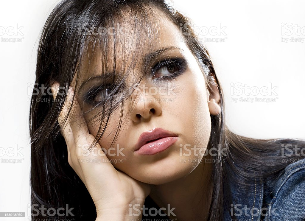 Worried woman royalty-free stock photo