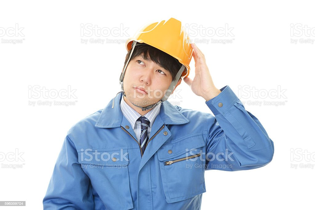 Worried worker royalty-free stock photo