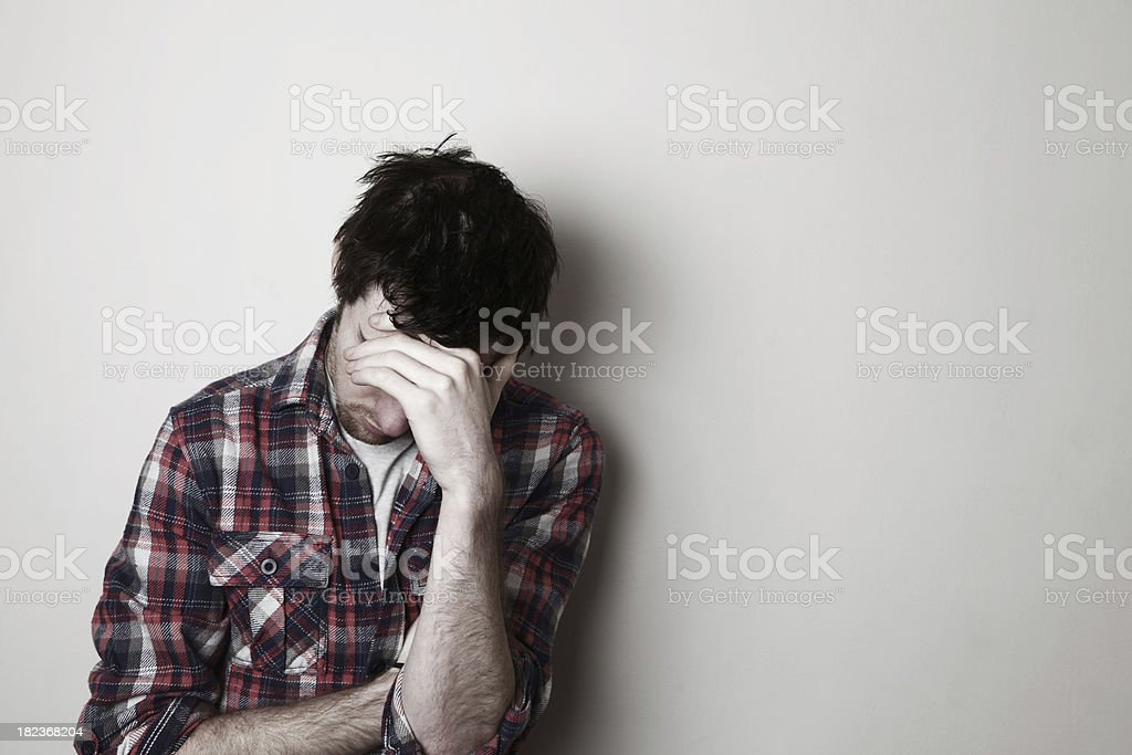 Worried young adult royalty-free stock photo