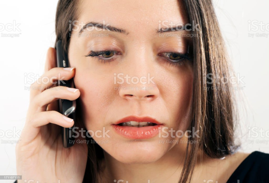 Worried young businesswoman royalty-free stock photo