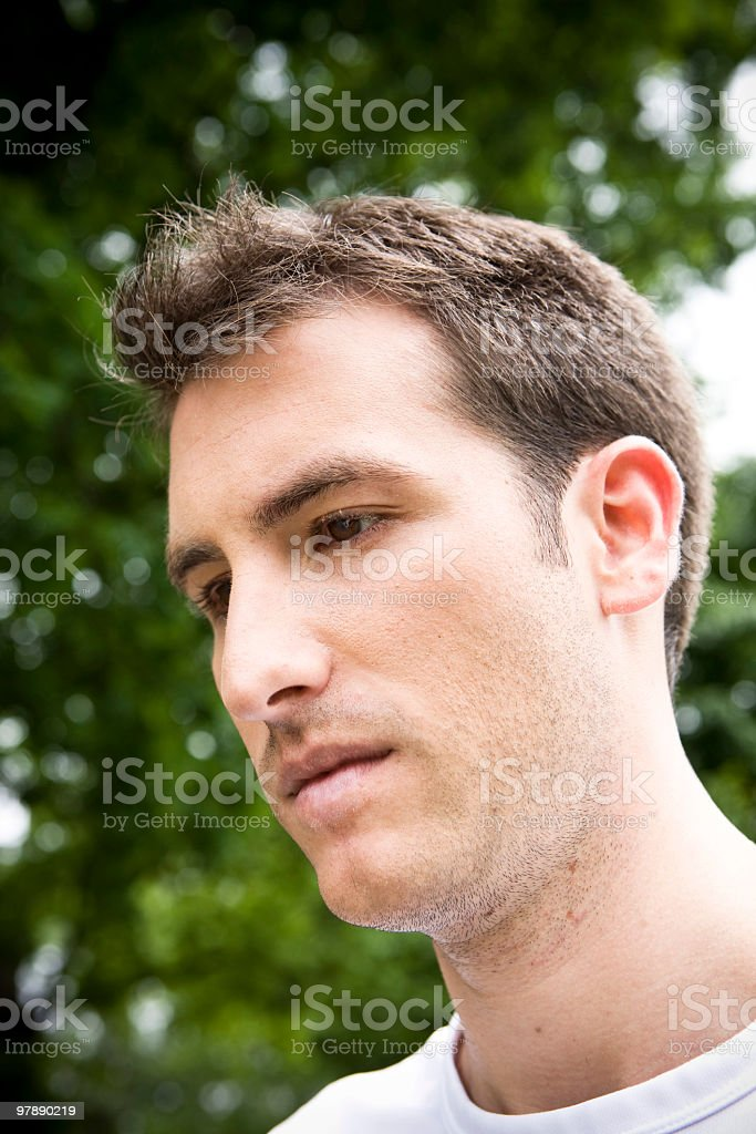 Worried Young Man royalty-free stock photo