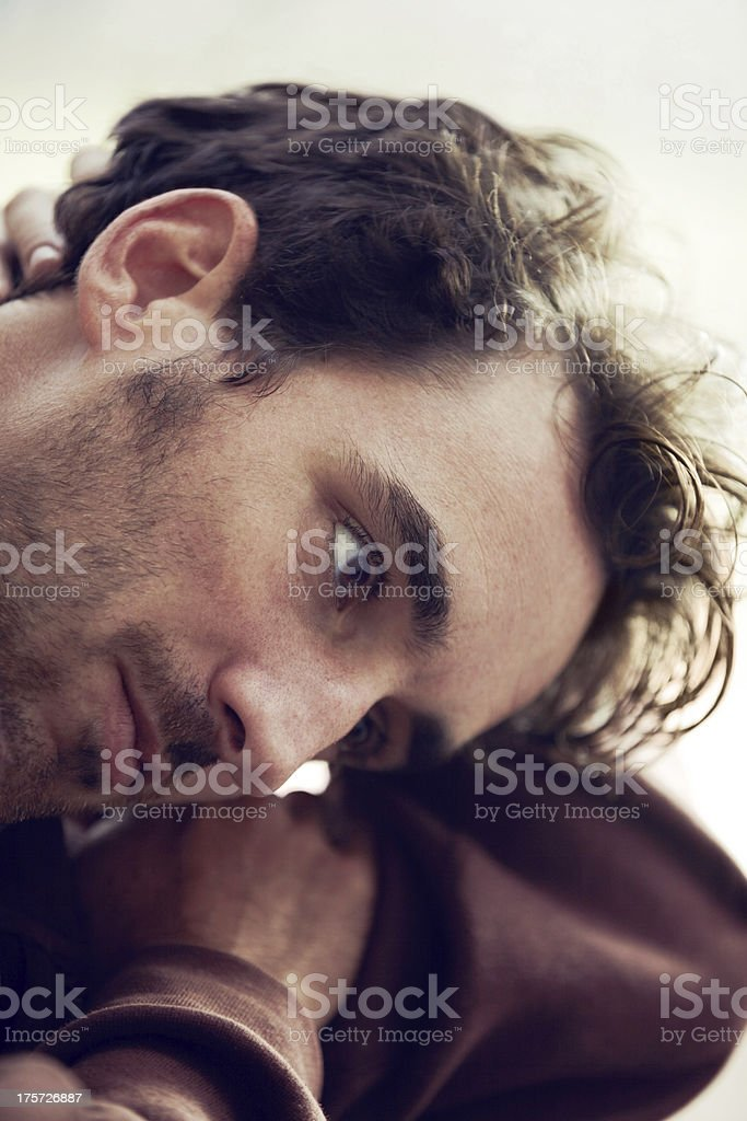 Worrying about the future royalty-free stock photo
