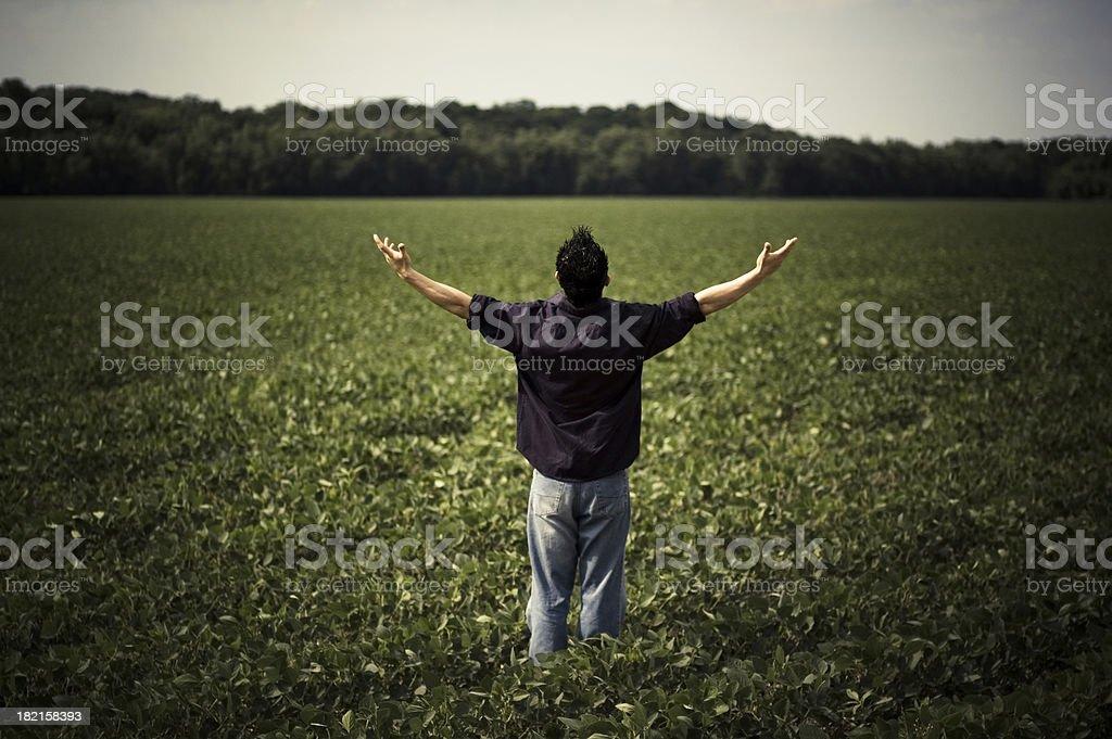Worship and Praise royalty-free stock photo