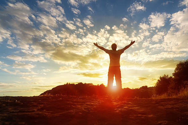 worship and praise - god stock photos and pictures