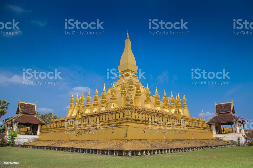 Worship at Laos. stock photo
