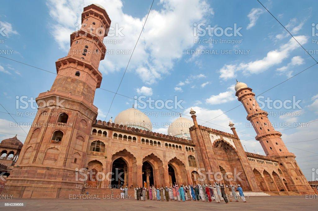 Worship at Taj-ul-Masajid, Bhopal, Madhya Pradesh, India stock photo