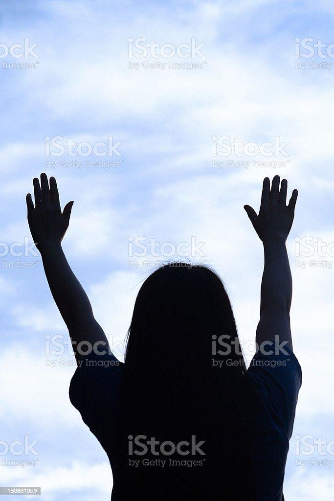 Worship - blue royalty-free stock photo