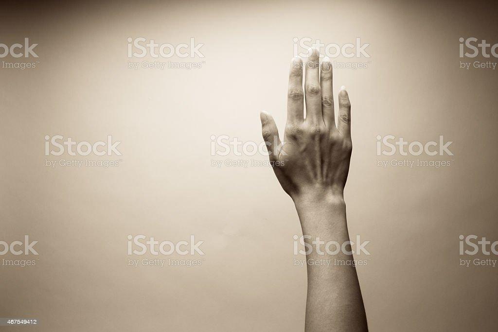 Worship Hand stock photo